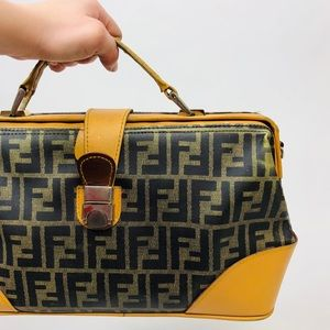 Authentic VTG FENDI Fold Clutch Handbag